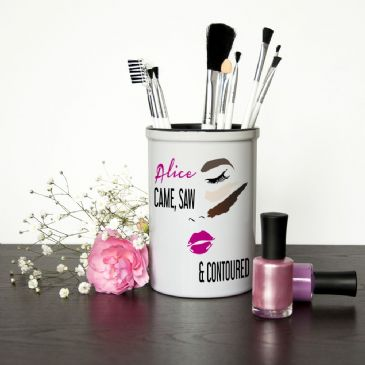 She Came, Saw,& Contoured Personalised Make Up Brush Holder
